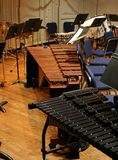 The percussion section. At a symphonic concert stock photography