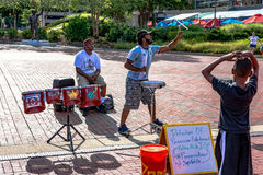 Percussion Street Performers in Baltimore Royalty Free Stock Photography
