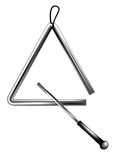 Percussion triangle. Isolated on a white background Stock Photography