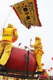 Percussione festiva cinese Fotografia Stock Libera da Diritti