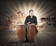 percussionist Arkivbild