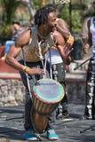 Percussionist i San Miguel de Allende, Mexico arkivfoto