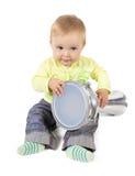 Percussionist van de baby Stock Foto