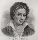 Percy Bysshe Shelley fotos de stock royalty free