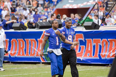 Percy Harvin en Louis Murphy Arrive royalty-vrije stock fotografie
