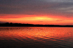 Percy Priest dawn Royalty Free Stock Images