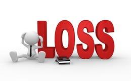 perda ilustração stock