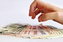 Perda de dinheiro Imagem de Stock