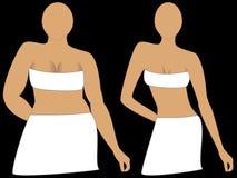 Perda de peso, antes e depois. Foto de Stock Royalty Free
