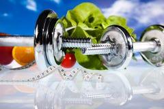 Perda de peso, aptidão, conceito colorido brilhante do tom Imagens de Stock Royalty Free