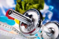 Perda de peso, aptidão, conceito colorido brilhante do tom Fotos de Stock Royalty Free