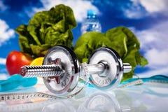 Perda de peso, aptidão, conceito colorido brilhante do tom Fotografia de Stock