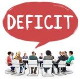 A perda do risco do deficit deduz o conceito da retirada Imagem de Stock