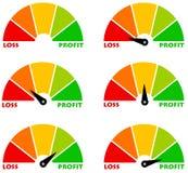 Perda e lucro Imagens de Stock Royalty Free