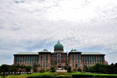Perdana Putra budynek, Bangunan Perdana Putra Zdjęcia Stock