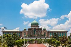 Perdana Putra, welches das Büro des Premierministers Malaysia errichtet Stockfoto