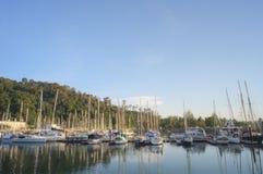 Perdana Quay, port de Telaga, Langkawi, Malaisie Images libres de droits
