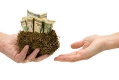 Perdendo suas economias do ovo de ninho Fotografia de Stock