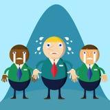 Perdente del personaggio dei cartoni animati dell'uomo di affari Immagine Stock Libera da Diritti