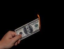 Perder el dinero Imágenes de archivo libres de regalías
