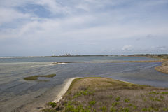Perdido钥匙看法从盐水湖的大盐水湖国家公园的在Pensaocla,佛罗里达 免版税图库摄影