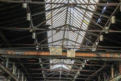Perdido coloque a garagem da estrada de ferro fotos de stock royalty free