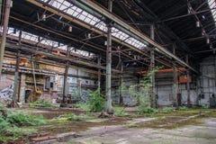 Perdido coloque a garagem da estrada de ferro imagem de stock royalty free