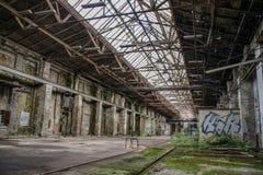 Perdido coloque a garagem da estrada de ferro fotografia de stock royalty free
