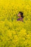 Perdido en amarillo Fotos de archivo