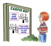 Perdido en campus libre illustration