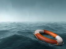 Perdido en el mar Fotografía de archivo