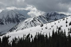 Perdido en las montañas Imagenes de archivo