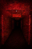 Perdido no corredor sujo assustador Fotografia de Stock Royalty Free