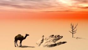 Perdido no deserto Imagem de Stock