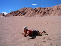 Perdido no deserto fotografia de stock