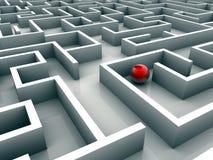 Perdido no labirinto Foto de Stock Royalty Free