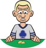Perdita del giocatore di mazza royalty illustrazione gratis