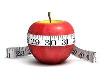 perdita di peso di 3d Apple Immagine Stock