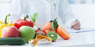 Perdita di peso e di dieta Fotografie Stock