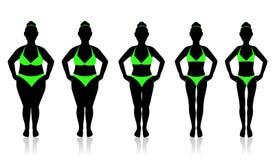 Perdita di peso e dieta Fotografia Stock Libera da Diritti