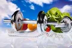 Perdita di peso, forma fisica, concetto variopinto luminoso di tono Fotografia Stock