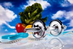 Perdita di peso, forma fisica, concetto variopinto luminoso di tono Fotografie Stock