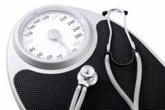 Perdita di peso per salute Fotografia Stock Libera da Diritti
