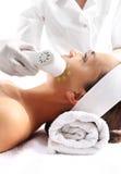 Perdita di trattamento di bellezza di ultrasuono di densità della pelle Immagine Stock