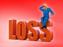 Perdita in fallimento Fotografie Stock