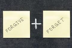 Perdoni e dimentichi fotografie stock libere da diritti