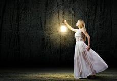 Perdu dans l'obscurité Photo libre de droits