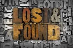 Perdu et trouvé Photo stock
