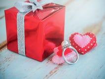Perełkowy diamentowy pierścionek Obraz Royalty Free