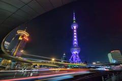 perełkowy Oriental wierza Shanghai Zdjęcia Royalty Free